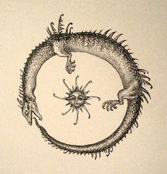 kendi kuyruğunu ısıran yılan sembolü - Google'da Ara