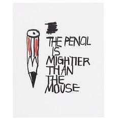 Buy House by John Lewis, Stephen Davids - Pencil Unframed Print, 24 x 30cm Online at johnlewis.com