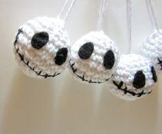 Jack Skellington Holiday Ornaments  Crochet Jack by MadebyJody666