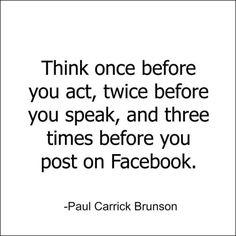 #Facebook #post #statusupdate #consideration
