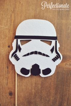 Storm Trooper Helmet Photo Prop on a Stick // by Perfectionate