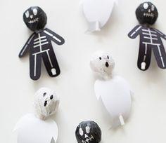 Manualitats fàcils de Halloween per a nens / @totnens #halloween