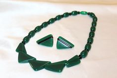 Vintage Art Deco Cataling Geometrical Emerald by MyJewelsBoutique
