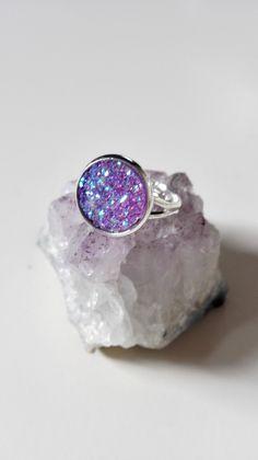 Bague Outlander sassenach celtique argenté cristaux violet idée cadeau féérique Miss Perles