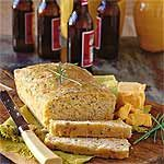 Sweet Beer Bread: 3 cups self-rising flour, 1/2 cup sugar, 1 (12-ounce) bottle beer, 1/4 cup melted butter. EASY.