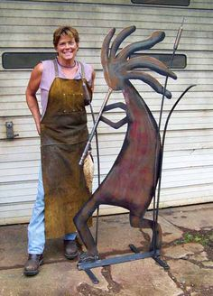 Lorelei Sims metal work. Did you notice the name of her website? Funny.