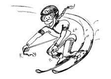 Skifahren – Stabilisieren: Das Spiel mit dem Gummiseil