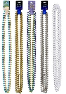 $3.16 Large Party Beads (3/pkg) - Choose Color silver & a gold for jewels in chest