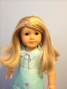 Kailey American Girl Doll of the year 2003 with side bang french braid. So pretty!