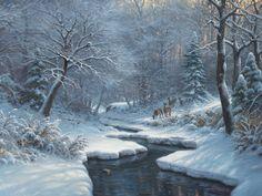 Winter Blanket - by Mark Keathley Painting Snow, Winter Painting, Winter Art, Landscape Paintings, Watercolor Paintings, Oil Paintings, Art Thomas, Winter Blankets, Christmas Paintings