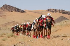 Marathon des Sables, Ouarzazate, Morocco  The Marathon of the Sands takes place over six grueling days, and stretches 156 miles, the equivalent to six regular marathons. The longest single stage is 52 miles long.