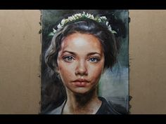 LV. 1 Watercolor Portrait Female Face Drawing Tuterial 인물수채화 - YouTube