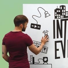 Learn how to build an interactive sound wall or interactive sound mural with the Interactive Wall Kit using Electric Paint. Interactive Walls, Interactive Display, Sound Wall, Learning, Building, Mens Tops, Electric, Tutorials, Kit