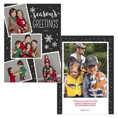 Scrapbook Greeting is a 5x7 double sided card. Visit our website for more holiday card options! | JCPenney Portraits