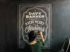 Time-lapse of Dana Tanamachi's custom chalk lettering. She is INCREDIBLE. Tell a friend.