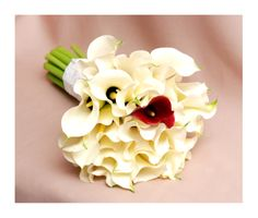 White calla beautiful wedding bouquet
