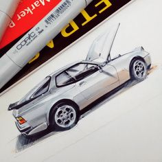 "608 Me gusta, 8 comentarios - Leonardo Castilho (@leonardocastilho17) en Instagram: ""#porsche #944 #sketch #markers #copic"""