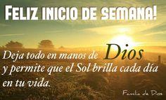 Oración de la mañana / Gracias Dios / un nuevo día / oración / Dios / Jesús / amanecer / buenos días / inicio de semana