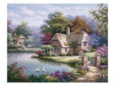 Swan Cottage I Prints by Sung Kim at AllPosters.com