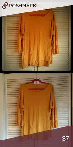 Mustard color tunic MOA mustard color tunic. Worn maybe 3 times size large. Minor peeling. Moa Tops Tunics
