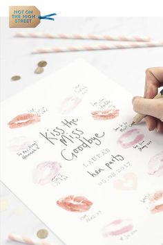 Personalised Hen Party Gift Kiss Print