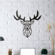 (Yeni) Metal Plaka - Deer Head