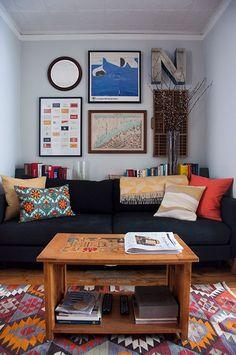 Design*Sponge: Home Sneak Peek - Jason Santa Maria & Megan Born Home Living Room, Apartment Living, Living Spaces, Studio Apartment, Apartment Design, Apartment Therapy, Small Apartments, Small Spaces, Home And Deco