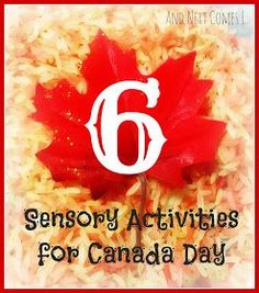 6 sensory activities for kids to celebrate Canada Day from And Next Comes L Canada For Kids, All About Canada, O Canada, Sensory Activities Toddlers, Science Activities For Kids, Children Activities, Sensory Play, Preschool Crafts, Crafts For Kids