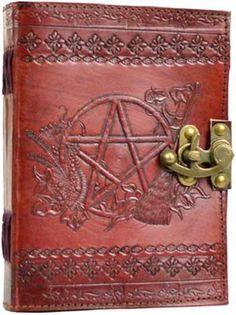 """The Pentacle Book Of Shadows is powerful enough to contain and protect your writings and preserve them for many generations to come."" The Pentacle Book of Shadows has a magickal design with its beaut"