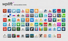 50 Amazingly Free Social Media Icon Sets | Graphic & Web Design Inspiration + Resources