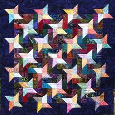 SALE PRICE One of a Kind Bright Batik Star by TweetyBeeStitches, $105.00 Entered into the July Shop Hop and obtained 1st place. Congratulations!