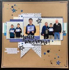 Get inspired today at Scrapbook.com. Click to see all the products used on this layout. #schoolscrapbooking #scrapbookcom