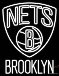 Brooklyn Nets NBA Logo Real Neon Glass Tube Neon Sign,Affordable and durable,Made in USA,if you want to get it ,please click the visit button or go to my website,you can get everything neon from us. based in CA USA, free shipping and 1 year warranty , 24/7 service
