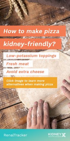 Renal Diet Pizza Make your pizza kidney-friendly by knowing alternative ways to lessen the SPPP amounts. Click image to learn how and as a bonus, try this pizza recipe. Low Potassium Recipes, Low Sodium Recipes, Healthy Kidney Diet, Kidney Foods, Healthy Kidneys, Kidney Health, Low Salt Recipes, Diet Recipes, Diabetes Recipes
