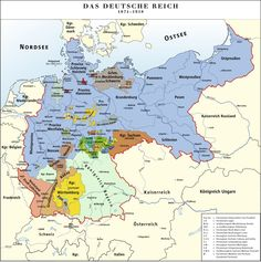 Prussia c. 1871-1918 Under Bismarck's unification [c. 1871, see German unification map above] Created an Imperial Germany of several independent German Kingdoms. Niedersachsen-Landkreis Hildesheim, the current German State that encompasses the area from which my Grandfather Adolph Tiemann came was part of Prussia and Imperial Germany. Around 1882 he left for the United States, becoming a U.S. citizen October 16th, 1891.