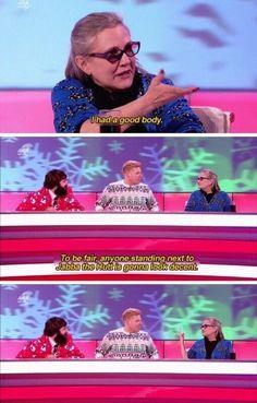 A lady so freaking funny she dated Dan Aykroyd...