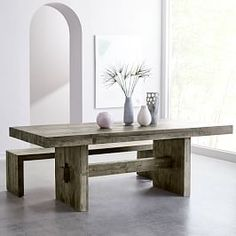 West Elm offers modern furniture and home decor featuring inspiring designs and colors. Create a stylish space with home accessories from West Elm. West Elm Dining Table, Reclaimed Wood Dining Table, Dinning Table, Table And Chairs, Dining Room, Dining Set, Kitchen Tables, Dining Chair, Solid Wood Table