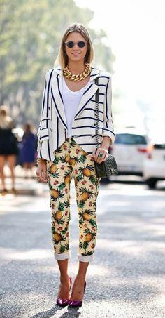tropical print pants