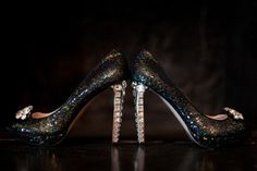 We love the Sparkle! What a great bridal  heel pick from Stephanie Okereke!