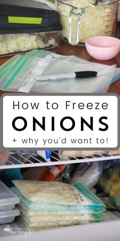 The single best thing you can do to speed up your cooking process is keeping onions in the freezer. I'm not even kidding! Learn all about how to freeze onions now so you can get dinner on the table faster! #howto #freeze #onions