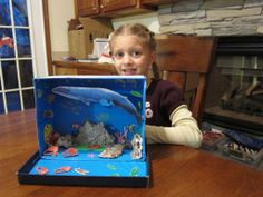 Nap Time News: Nora's Habitat Diorama - The Blue Whale Ocean Projects, Animal Projects, Science Projects, Animal Crafts, Art Projects, Ocean Diorama, Diorama Kids, Ocean Habitat, Turtle Habitat