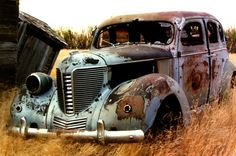 abandoned vehicles | antique # junker # rusty