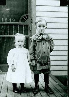 Walt Disney with his little sister, Ruth.