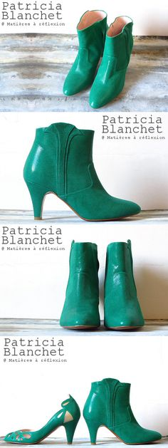 Patricia Blanchet ankle boots Reno verte #patriciablanchet #lowboots #ankleboots #boots #bottines #chaussures #shoes #itshoes #vert #serpent #cuir #leather #snake #reno #ss15 #fashion
