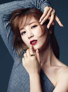 """A Pink's Chorong Becomes First Celebrity Beauty Editor for """"SURE"""" Magazine Korean Girl Groups, South Korean Girls, Pink Panda, Red Sun, Absolutely Stunning, Beautiful, Celebrity Beauty, Girl Day, Pop Fashion"""