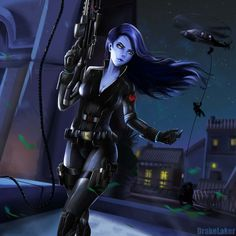 Overwatch x Avenger: Black Widowmaker by drakelaker.deviantart.com on @DeviantArt