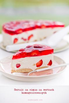 Cold cheesecake on homogenised cheese (or yogurt) Jelly, Panna Cotta, Cheesecake, Food And Drink, Easter, Sweets, Ale, Cooking, Ethnic Recipes