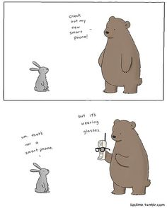 """The small world of Liz"", a selection of small cute comics created by American illustrator Liz Climo, which features some very adorable animals in funny and t"