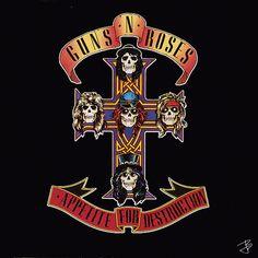 Guns - N - Roses ~ Appetite for Destruction album cover art animated #gif by jbetcom