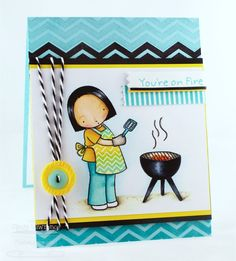 Pure Innocence Grillin' Girl; Jumbo Mod Borders; Washi Patterns; Sentiment Strips 2 Die-namics - Cindy Lawrence